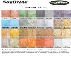 Soycrete Concrete Stain Color Chart Floor Coverings