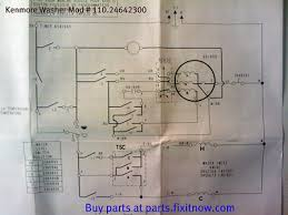 wiring diagrams and schematics appliantology kenmore washer mod 110 24642300 schematic