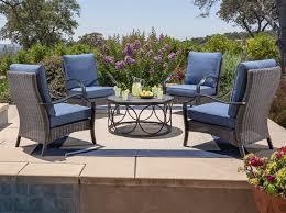 5 piece deep seating set in olefin blue