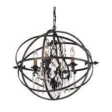 eye catching bronze crystal chandelier and chandelier