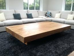 large coffee table large square