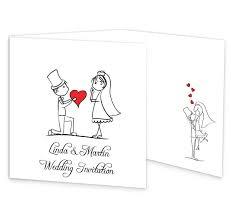 Stick Couple Proposing Tri Folding Wedding Invite