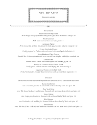 Formal Dinner Menu Template Gorgeous Fine Dining Menu Templates With Elegant Style MustHaveMenus