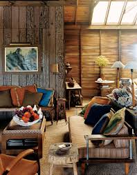 Rustic Design For Living Rooms Living Room Small Spaces Rustic Design With Wood Wall Old And