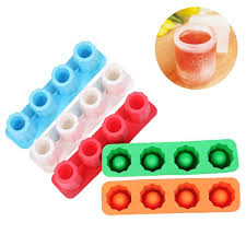 2019 silicone ice shot glass mold 4 cups siliocne tray square ice tray cube jelly tray baking mold ice cube maker from shunhuico 5 33 dhgate com