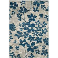evoke gray light blue 5 ft x 8 ft area rug