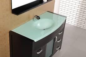waterfall 48 single sink vanity set w glass top design element dec017