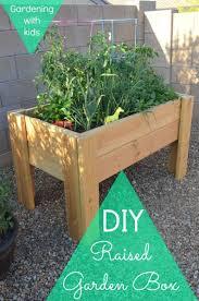 box garden. Perfect Garden DIY Raised Garden Box  Gardening With Kids For Box Garden L