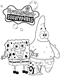 Small Picture Spongebob Squarepants and Patrick Taking Picture with Gary the