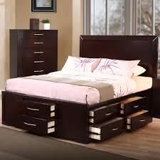 Modern Queen Bedroom Set Storage Modern Queen Bed With Storage Frame Wood 74818 Coa 30038