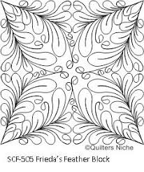 949 best Quilting templates images on Pinterest | Patterns ... & New computerized machine quilting design by Quilters Niche SCF-505-Friedas- Feather- Adamdwight.com