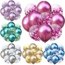 12pcs/6pcs 12inch Mixed Gold Confetti Balloons Birthday ... - Vova