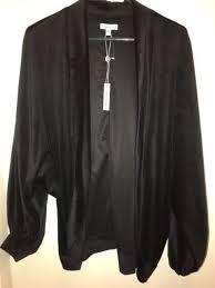 max studio women s velvet open front bolero shrug black size m nwt evening chic