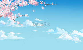 Spring Cherry Blossom Background Creative Image_picture Free