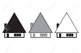 architecture houses sketch. Wonderful Sketch Three Houses Vector Set  Black Silhouette Sketch Architecture  Stock Vector Throughout Architecture Houses Sketch