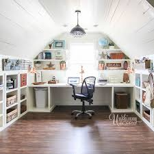amazing office spaces. amazing officecraft room organization in the attic look at all those cubbies under office spaces