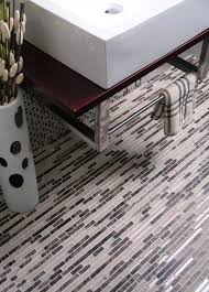 decorative glass and stone mosaic tile room scene