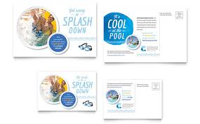Pool Word Community Swimming Pool Postcard Template Word Publisher