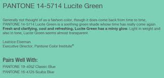Lucite Color Chart Lucite Green Spring 2015 Pantone Color Sew And Sos Notions