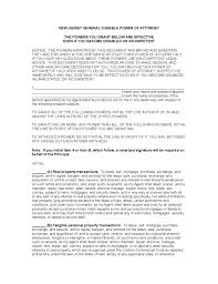 Fill out, securely sign, print or email your nj state disability temporary forms instantly with signnow. General Durable Power Of Attorney New Jersey Free Download