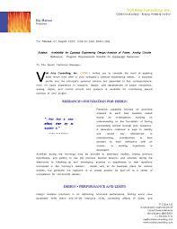 Vac Cover Letter Business Profile Resume Graphics E