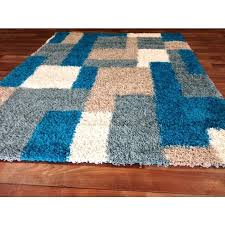 turquoise modern blocks gy area rug blue turquoise beige white blocks pattern contemporary abstract rug