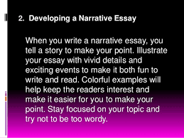 composition nine pattern of essay development 8 2 developing a narrative essay when you write
