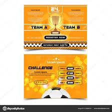 Soccer Poster Design Football Ball Flyer Concept Design