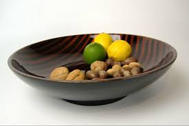 tiger s eye wooden lacquer serving bowl