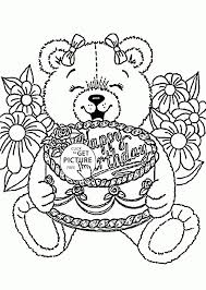 Free Printable Happy Birthday Coloring Pages New Page Print For