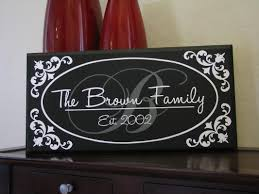 Small Picture Custom Family Name Home Decor Sign Oval Border