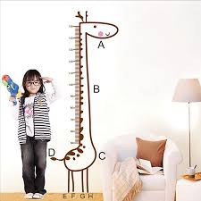 Child Height Chart For Wall Giraffe Wall Stickers Growth Height Chart