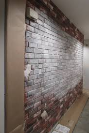 Fascinating Image Of Painting Faux Bricks For Home Interior Wall Decoration  : Marvelous Picture Of Home ...