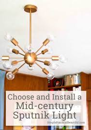 midcentury lighting. Chandelier Installation Cost Unique Midcentury Lighting A Sputnik Simple