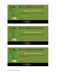 Microsoft Word Templates Gift Certificates Golf Gift Certificate