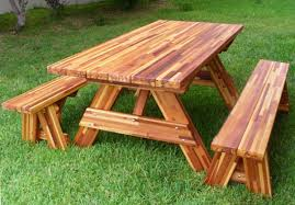 12 photos gallery of best and popular picnic table bench