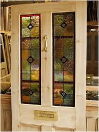 stained glass front doors for modern looks stained glass reclaimed victorian front door stained