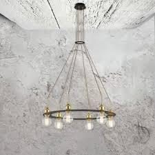 gold industrial multi pendant light fitting