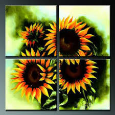 sunflowers v modern canvas art wall decor floral oil painting wall art with stretched on sunflower wall art canvas with sunflowers v modern canvas art wall decor floral oil painting wall