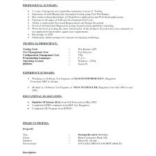 Resume Software Engineer Sample Best Of Manual Testing Resumes Sample Resume For 24 Years Experience Pdf