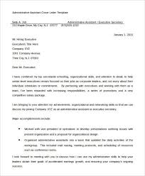 administrative assistant cover letter 8 free word pdf 8980e9d8