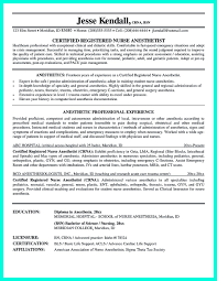 Nurse Anesthetist Resume Crna Cv Examples Crna Resume Template Sample Vet Tech Best Example Nurse 53