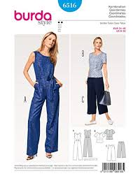 Burda Patterns Adorable BURDA SEWING PATTERN MISSES' JUMPSUIT SIZE 48 48 BURDA 48 Amazon