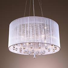maishang 4 light drum pendant light ambient light electroplated metal crystal 110 120v
