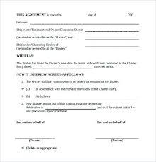 Commission Sales Agreement Template Free Contract Form Graphic ...
