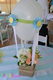 Boys Hot Air Balloon Baby Shower Table Decorations Centerpiece