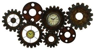 clock gears wall decor industrial