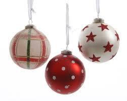 Christbaumkugeln Weihnachtsbaumkugeln Echt Glas Rot Weiss