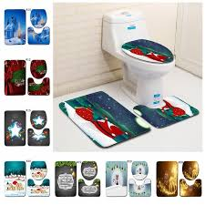 toilet mat set bathroom carpet toilet lid cover toilet seat cover rugs non slip x mas bath mats mma500 50lot baby keepsake book and box