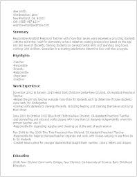 Sample Resume For Early Childhood Teacher Sample Resume For Early ...